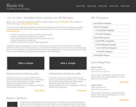 Basic 88 Free Html5 Template Html5 Templates Os Templates Simple Html5 Template