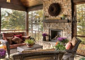 screen porch fireplace lovely screened porch with fireplace patios porches