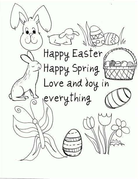 coloring pages easter pdf easter coloring pages pdf coloring home