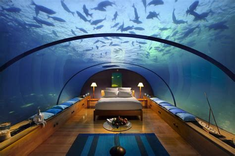 underwater bedroom in maldives the most insane bedroom location ever
