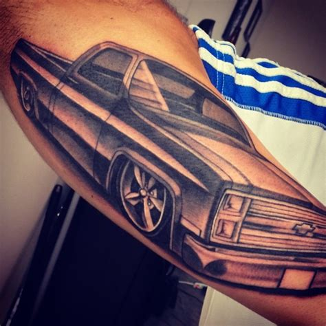 13 shades tattoo chevy truck tattoos