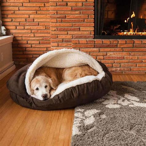 cave dog bed cozy cave large hot fudge luxury microsu 232 de 89 cm