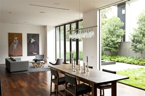 Linear Dining Room Lighting Linear Chandelier Dining Room Contemporary With Area Rug Baseboards Centerpiece Dining Table