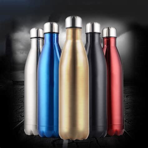 Colourful Thermos Insulated Mik Water Bottle 500ml Ther 12oz 17oz 25oz 5 color stainless steel thermos water bottle vacuum insulated sports water bottle