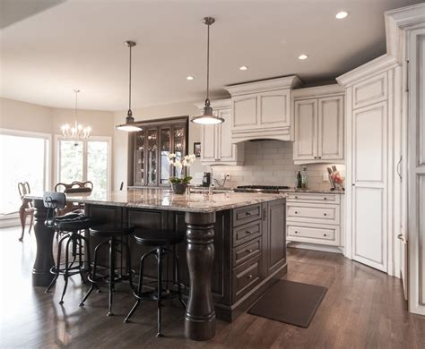 Kitchen Islands Vancouver Vancouver Distressed Black Kitchen Traditional With Chandelier Islands Wood Floors Eat In