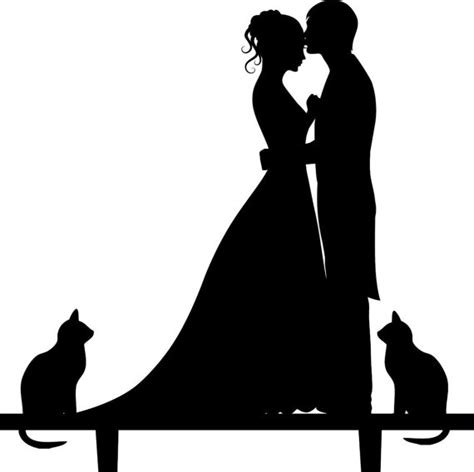 Wedding Bride And Groom Silhouette Pictures to Pin on