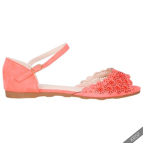 12 Coolest Cut Out Shoes For This Summer by Womens Floral Cut Out Open Peep Toe Flats Pumps Ankle