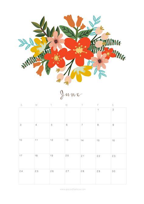 printable calendar 2018 flowers printable june 2018 calendar monthly planner flower