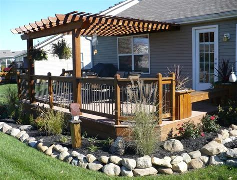 backyard decks and landscaping 25 best ideas about deck with pergola on pinterest deck