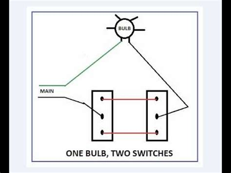 one bulb two switches intended for 2 switches