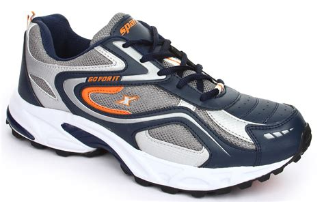 sparx navy blue and orange sports shoes sm 171