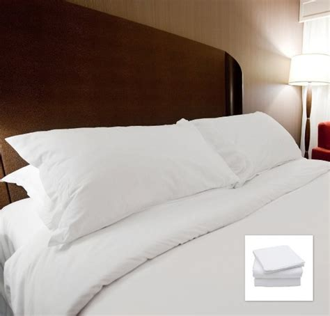 Hotel Motel Mattress Sets by Snow White 100 Cotton Plain Style Hotel Motel Bedding Set