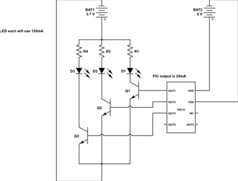 transistor led circuit pic what transistor to use when building a simple mcu controlled led blinking circuit
