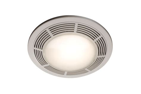 Broan Model 751 Fan Light 100 Cfm 3 5 Sones Round White Bathroom Fan And Light Combo