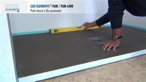 montaggio piatto doccia filo pavimento montaggio elements piatti doccia a filo pavimento tub