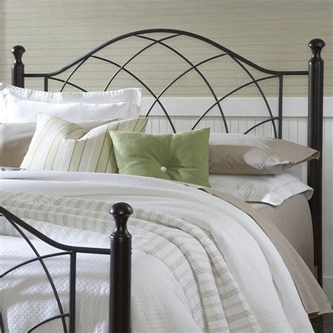 hillsdale vista spindle headboard with rails in silver and