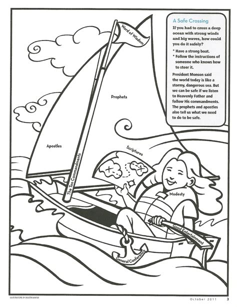 Happy Clean Living Primary 2 Lesson 29 Let Your Light Shine Coloring Page