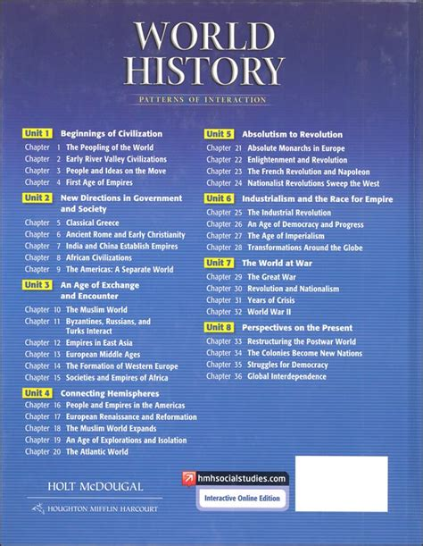 world history chapter 7 section 3 holt world history pattern of interaction package 029785