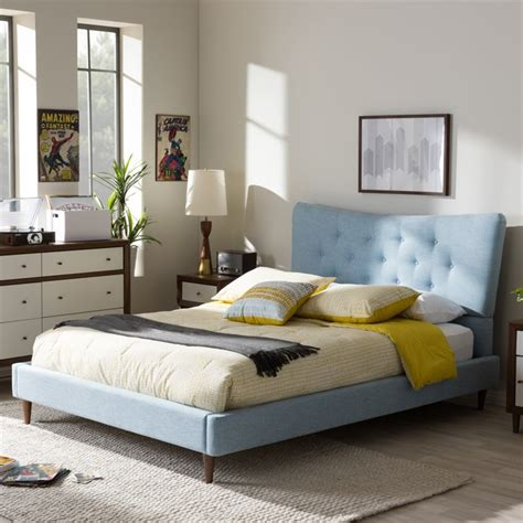 blue platform bed hannah queen platform bed in light blue bbt6570 light blue queen