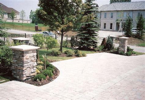 Kitchen Design Jobs Toronto by Driveway Entrance Precast Stone Pavers Stone Columns