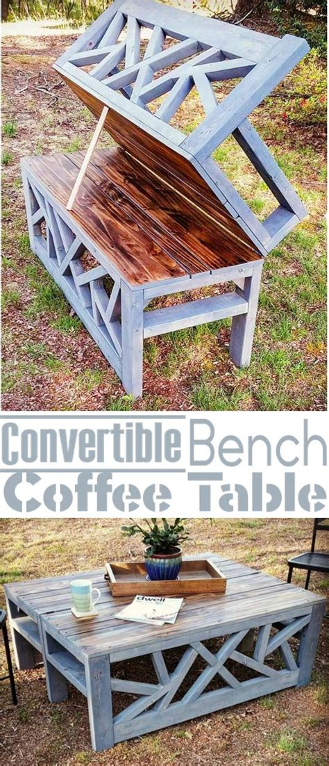 how to build an outdoor table how to build an outdoor bench that converts into a coffee