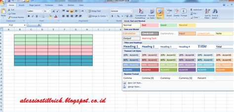 membuat tabel berwarna di html cara membuat tabel di microsoft excel infodantutorial com