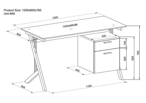 Standard Desk Measurements | woodwork standard computer desk dimensions pdf plans