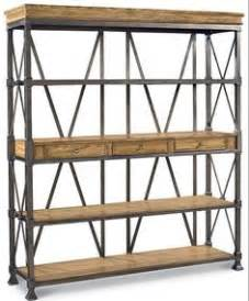 Wrought Iron Bakers Rack With Wood Shelves Wrought Iron Bookcase With Oak Shelves Longaberger Tie