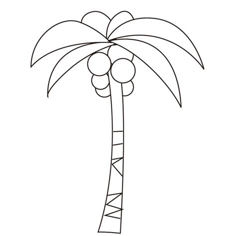 Coloring Plant Coconut Coconut Tree Coloring Page