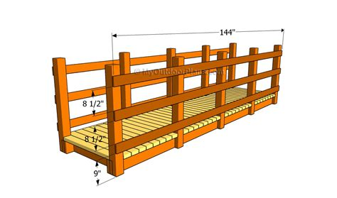 small bridge plans wooden bridge plans free outdoor plans diy shed