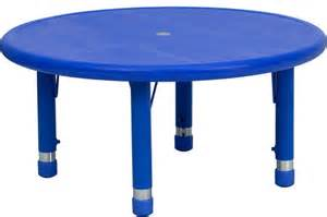 Kids Bedroom Furniture Stores 33 Round Height Adjustable Blue Plastic Activity Table