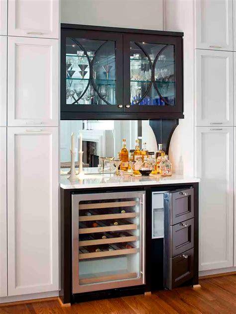 bar cabinet with fridge space photos hgtv