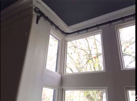 window brackets for curtains best 25 bay window curtain poles ideas on pinterest bay