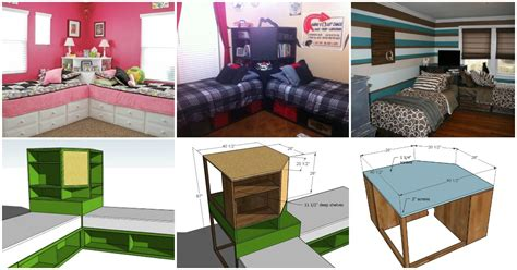 corner twin beds with storage how to build a corner unit for twin storage beds diy