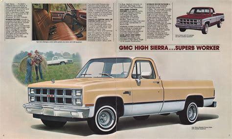 1982 gmc sales brochure