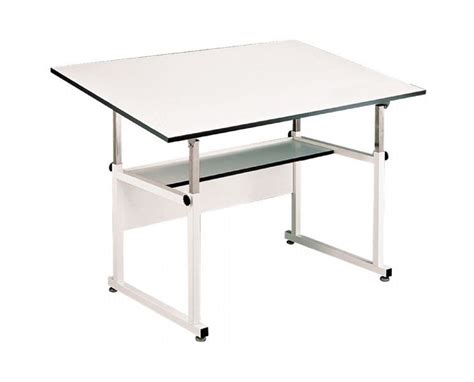Alvin Workmaster White Base Drafting Table Tiger Supplies White Drafting Table