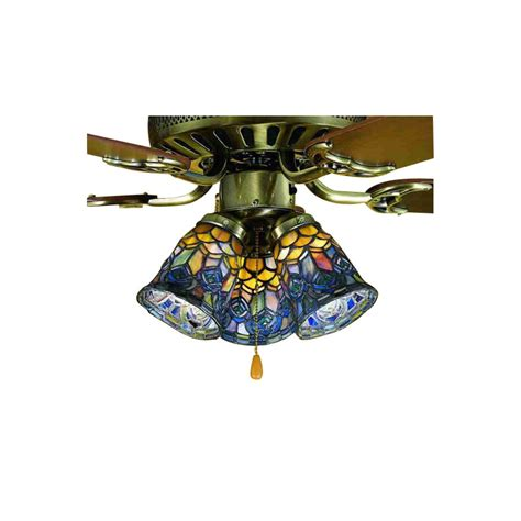ceiling fan with stained glass light shop meyda tiffany 1 light mahogany bronze ceiling fan