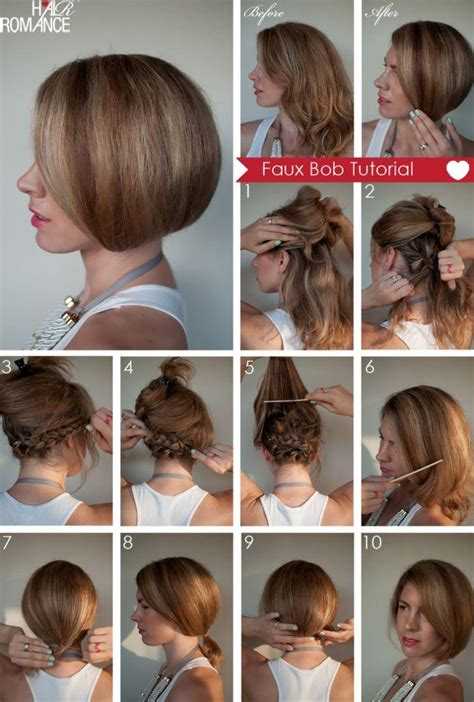 how to cut own back of bob diy faux bob hairstyle do it yourself fashion tips diy