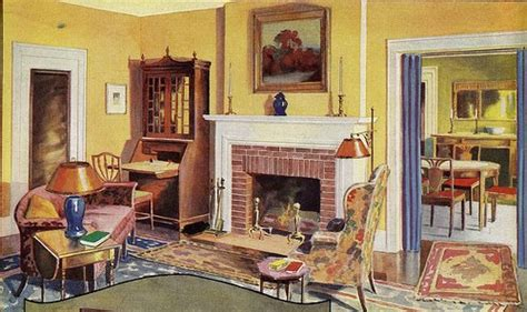1930s living room decorating tennis girl 1930 s living room