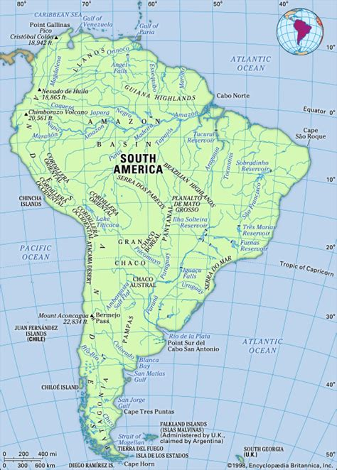 south america map river south america britannica