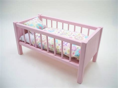 Crib For Dolls by Wood Doll Bed Doll Bed American Doll Bed Doll Crib