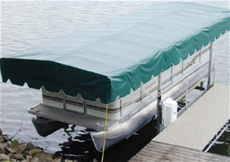 pontoon boat lift covers boat lift covers waterfront products