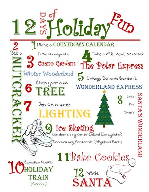 12 family holiday activities printable little lake county