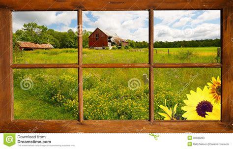 imagenes de paisajes vistos desde una ventana paisaje del verano a trav 233 s de una ventana fotos de