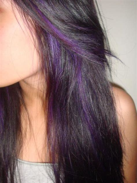 long hairstyles purple highlights purple highlights long hairstyles how to