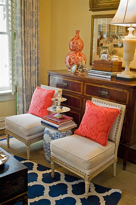 Coral Color Living Room by Pretty Living Navy Coral Get Your Pretty On