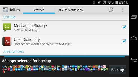 android helium helium android app app syn and backup solution