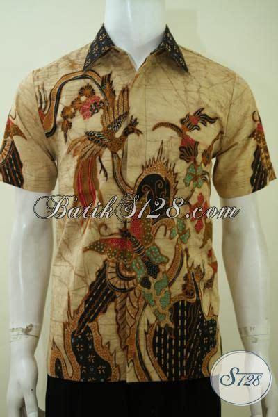 Koleksi Terbaru Kemeja Coklat Sw Kemeja Pria Katun Stretch 1 kemeja batik pria motif modern warna coklat baju batik