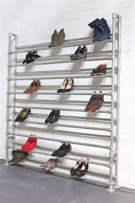 industrial shoe racks storage large galvanised steel pipe shoe rack by