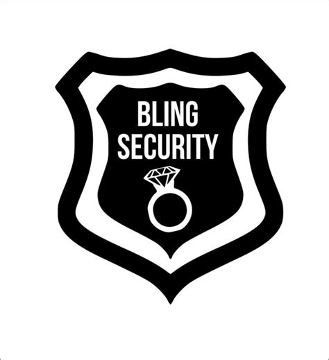 bling security iron on decal any color